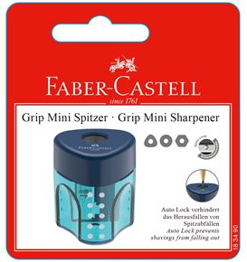 Faber-Castell - Grip sharpening box, set of 1, 3 trend colours, sorted