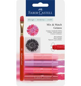 Faber-Castell - Watersoluble crayon Gelatos 6ct set
