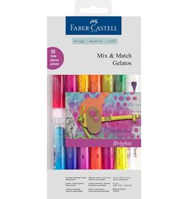 Faber-Castell - Watersoluble crayons Gelatos Brights 15ct set