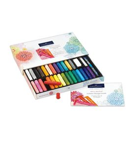 Faber-Castell - Gelatos watersoluble crayons, gift set, 34 pieces