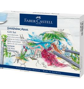 Faber-Castell - Goldfaber Aqua watercolour pencil, gift set, 18 pieces