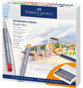 Faber-Castell - Goldfaber Aqua watercolour pencil, studio box