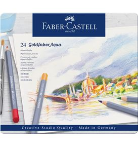 Faber-Castell - Watercolour pencil Goldfaber Aqua tin of 24