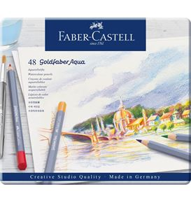 Faber-Castell - Watercolour pencil Goldfaber Aqua tin of 48