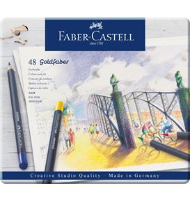 Faber-Castell - Colour pencil Goldfaber metal tin of 48
