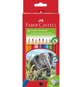 Faber-Castell - Classic Colour Jumbo colour pencil, cardboard wallet of 10