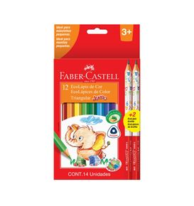 Faber-Castell - Ecopencil Jumbo x12 125012+2 graph