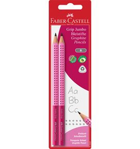 Faber-Castell - Graphite pencil Jumbo Grip 2x Girls