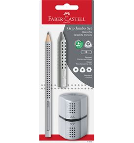 Faber-Castell - Graphite pencil Jumbo Grip set silver