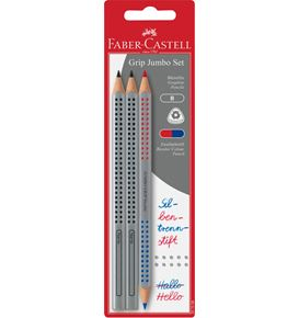 Faber-Castell - Graphite pencils Jumbo Grip + Bicolor Red/Blue