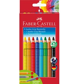 Faber-Castell - Jumbo Grip colour pencils, promotional set, 10 pieces