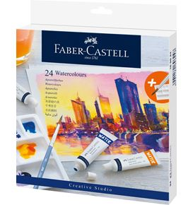 Faber-Castell - Watercolour, wallet of 24, including mixing palette