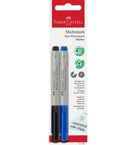 Faber-Castell - Multimark overhead marker water-soluble, F, blue/black