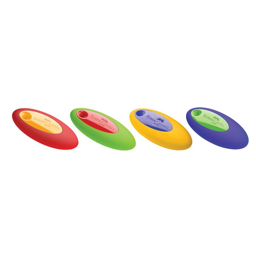 Faber-Castell - Oval eraser, sorted colours