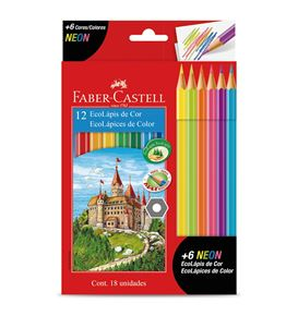 Faber-Castell - Col. Ecopencil x 12 colours + 6 neon