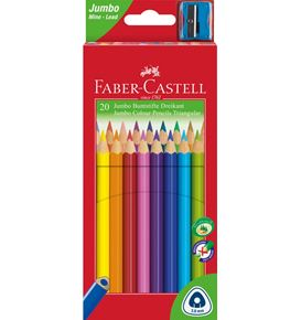Faber-Castell - 20 Coloured pencil Jumbo triangular with sharpener
