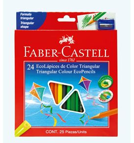 Faber-Castell - Col Ecopen trian 120524EXP 24x w/shar