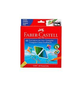 Faber-Castell - Col Ecopen trian 120548EXP 48x w/sh