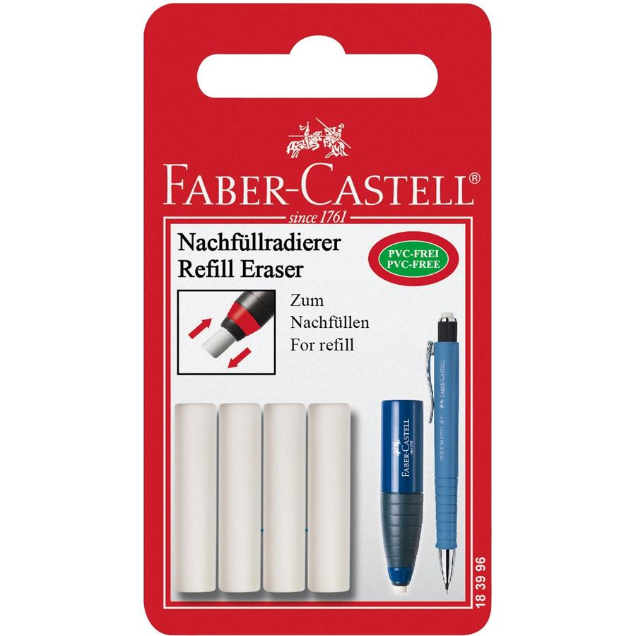 Faber-Castell - Spare eraser for eraser-sharpener combi, set of 4
