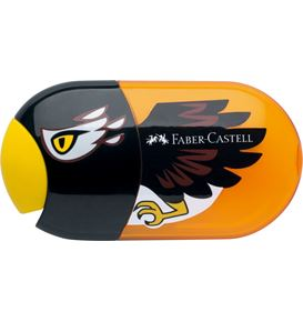 Faber-Castell - Animal motif twin sharpening box with eraser, motif eagle