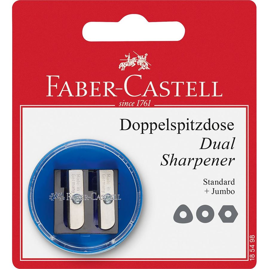 Faber-Castell - Twin sharpening box, round, sorted colours, set of 1