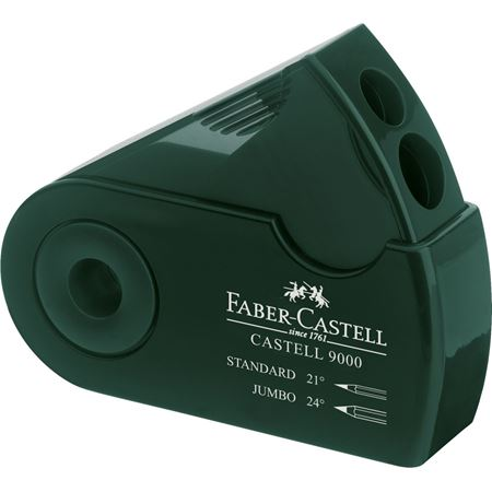 Faber-Castell - Castell 9000 twin sharpening box, green