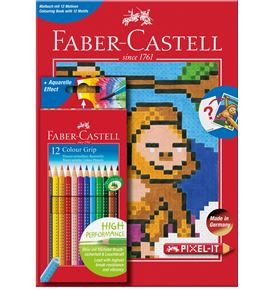 Faber-Castell - Colour Grip 12 cardboard box + PIXEL book