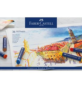 Faber-Castell - Oil crayons cardboard box of 36