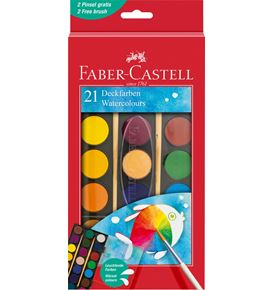 Faber-Castell - Watercolour paint box 21 colours