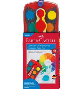 Faber-Castell - Paint box Connector 12 colours