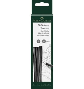 Faber-Castell - Pitt natural charcoal stick, 3-6 mm