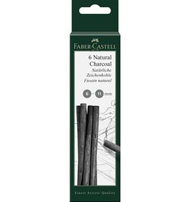 Faber-Castell - Pitt natural charcoal sticks 6-11mm