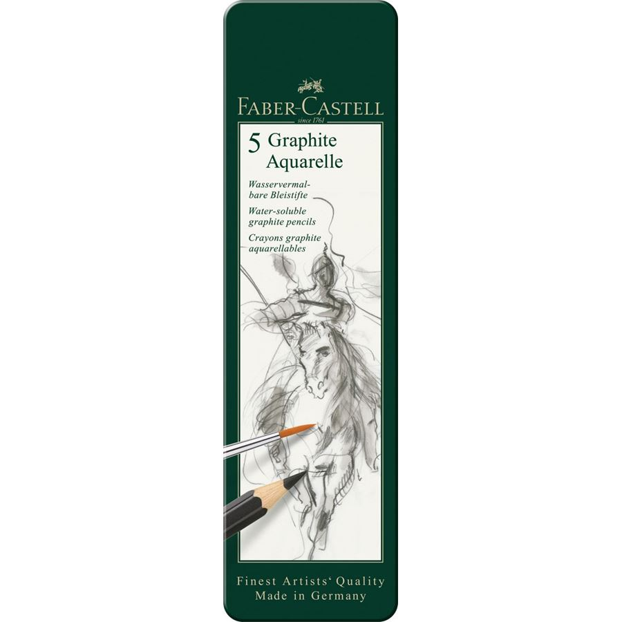 Faber-Castell - Graphite Aquarelle pencil, tin of 5