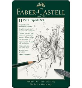 Faber-Castell - Pitt Graphite set, tin of 11