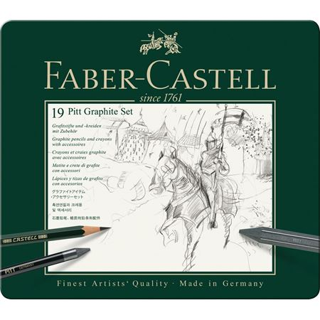 Faber-Castell - Set Pitt Graphite tin medium