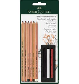 Faber-Castell - Pitt Monochrome set, 9 pieces