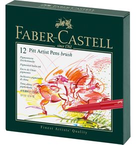 Faber-Castell - Pitt Artist Pen Brush India ink pen, studio box of 12