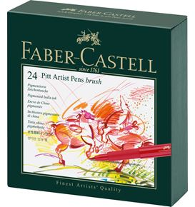 Faber-Castell - Pitt Artist Pen Brush India ink pen, studio box of 24