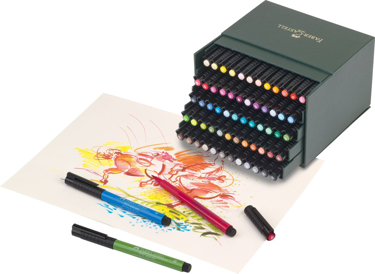 Faber Castell PITT Artist India Ink Brush Pens Available in 60 Colours