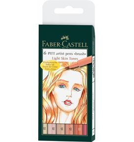Faber-Castell - India ink Pitt Artist Pen B light skin 6