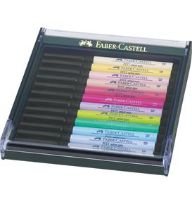 Faber-Castell - Pitt Artist Pen Brush India ink pen, set of 12, Pastel tones