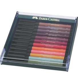 Faber-Castell - India ink Pitt Artist Pen B 12x earth