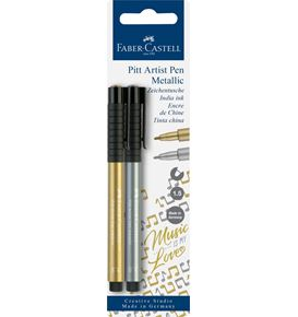 Faber-Castell - India ink Pitt Artist Pen colour gold/silver