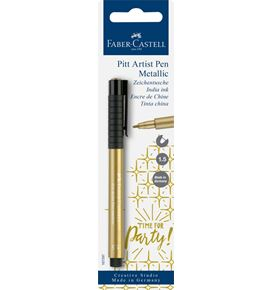 Faber-Castell - Pitt Artist Pen Metallic 1.5 India ink pen, gold