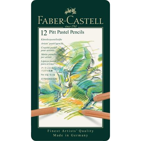 Faber-Castell - Pitt Pastel pencil, tin of 12