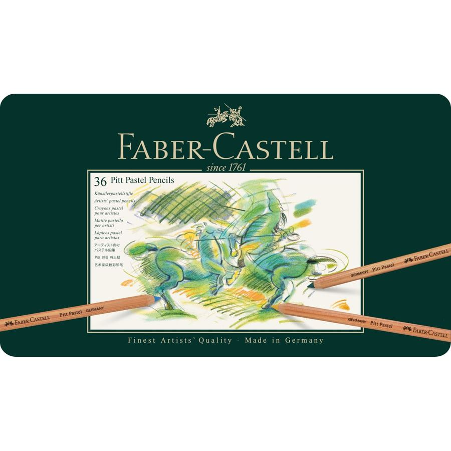 Faber-Castell - Pitt Pastel pencil, tin of 36