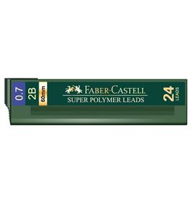 Faber-Castell - Leads Polymer 0.7mm 2B - 24 leads