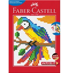 Faber-Castell - Colouring book Pixel-it with 32 motifs