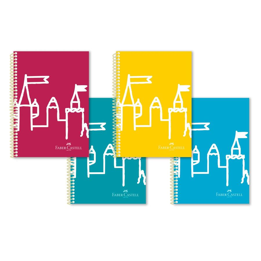 Faber-Castell - Castle notebook, DIN A4, squared, 80 sheets
