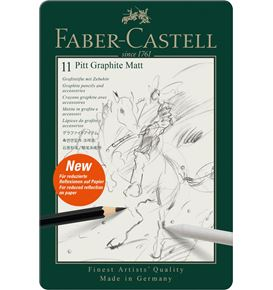 Faber-Castell - Pitt Graphite Matt set, tin of 11